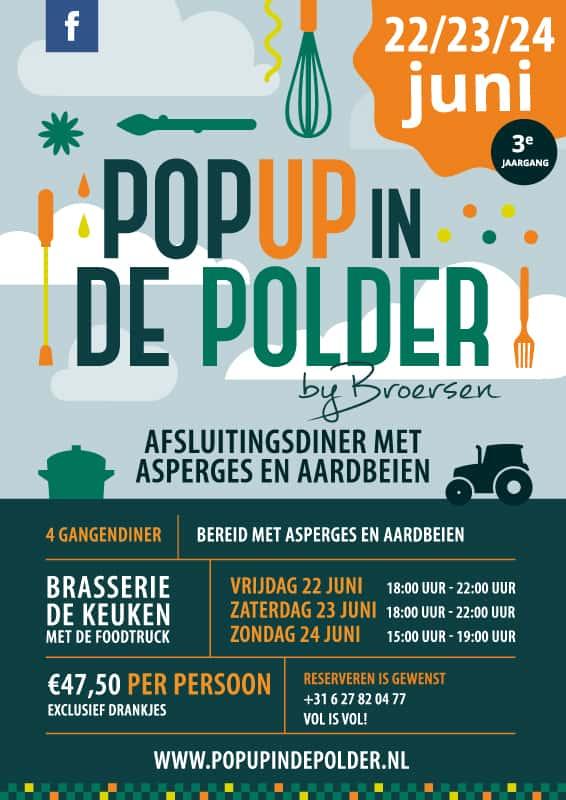 Pop Up in de Polder – LENTEDINER